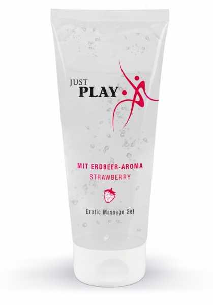 Just Play Erotic Massage Gel mit Erdbeer-Aroma 200 ml