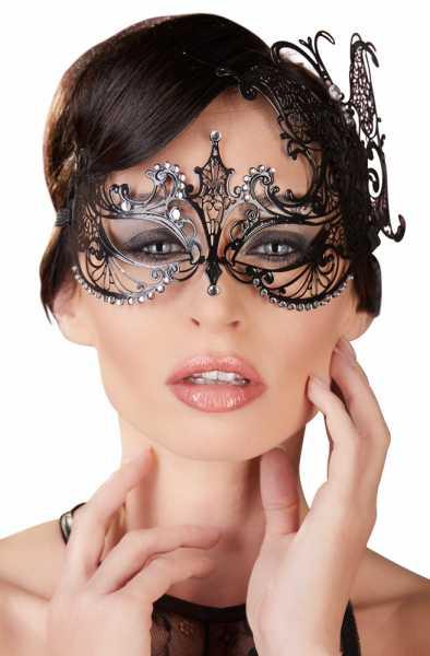 Metall Augenmaske mit Glitzer