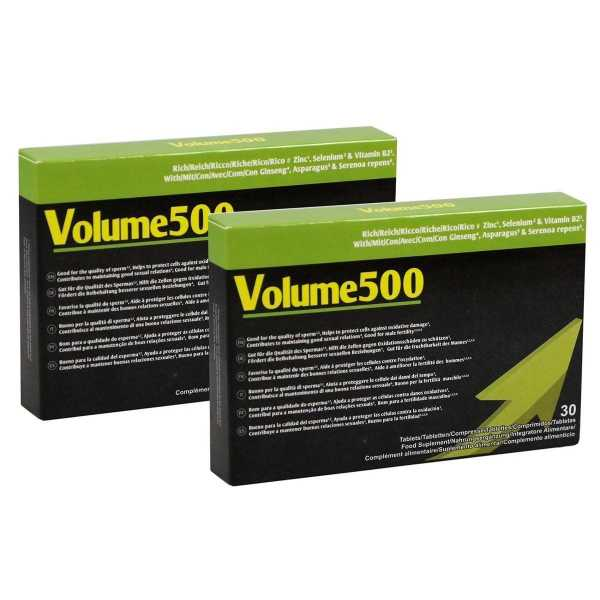2x Volume500 fuer mehr Sperma