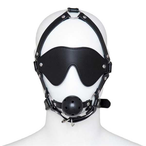 Kopf Harness mit Knebel & Augenbinde