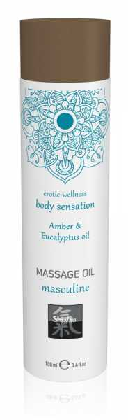 Massageöl Masculine Amber & Eucalyptus oil 100 ml