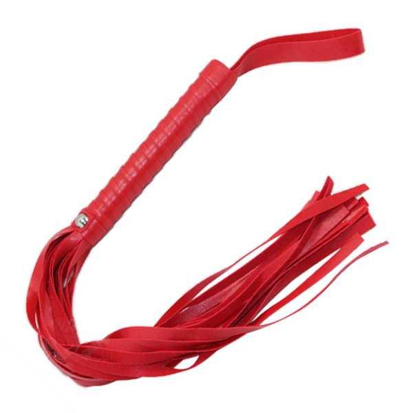 Peitsche aus Kunstleder Rot
