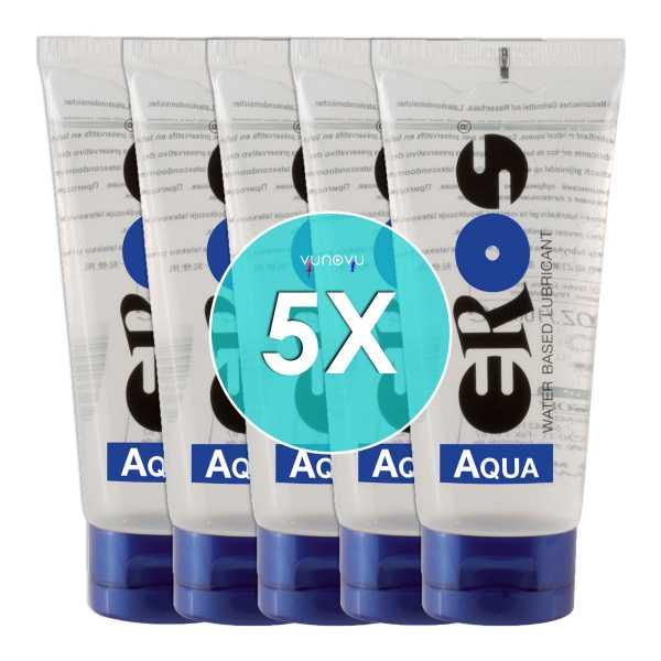 5x EROS Gleitgel auf Wasserbasis - Tube 100 ml