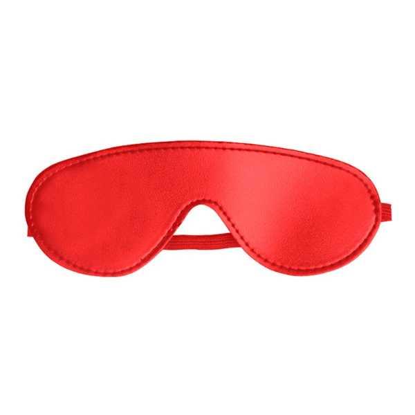 Rote Augenmaske