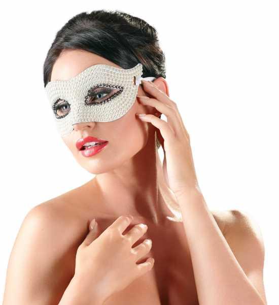 Augenmaske mit Perlen Frau