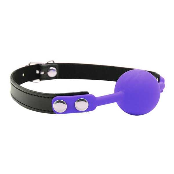 Ball Gag Solid Silicone Purple