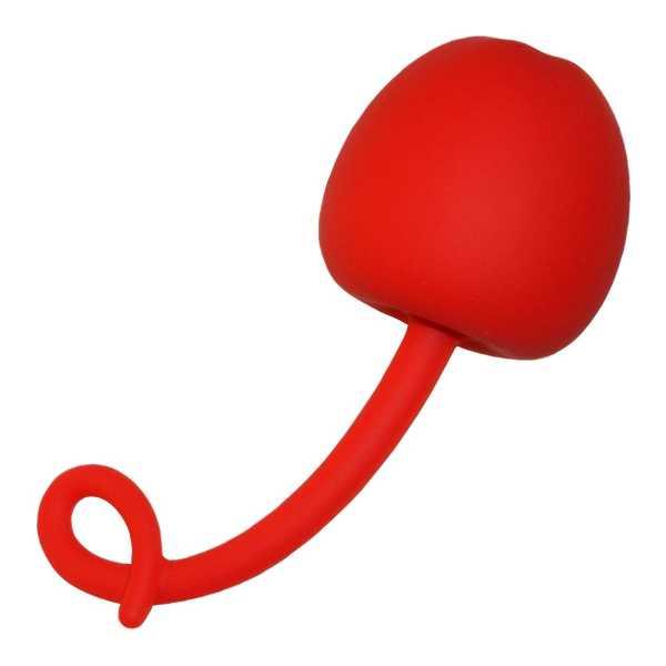 Liebeskugel Silikon-Apfel Rot