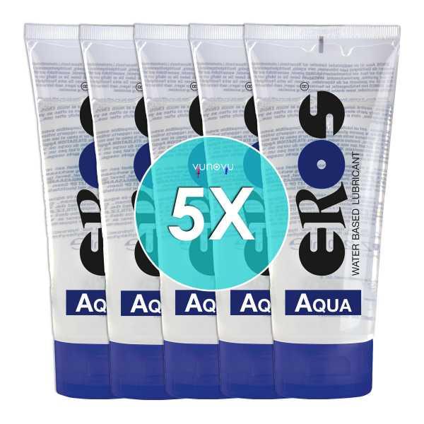 5x EROS Gleitgel auf Wasserbasis - Tube 200 ml