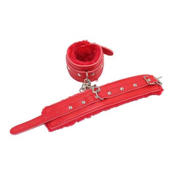 Rote Handfesseln