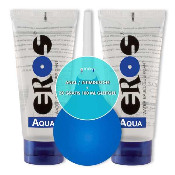 Klistier Analdusche + 2x Eros Aqua Gleitgel 100 ml