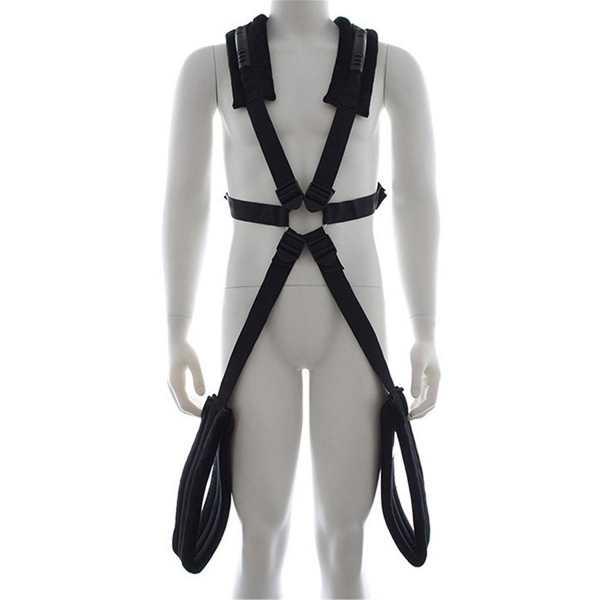 Bondage Fessel Body-Harness Schwarz